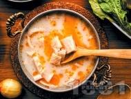 Шкембе чорба по шуменски с кисело мляко, яйца и оцет